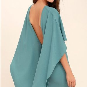 Lulus Dress Turquoise with cape
